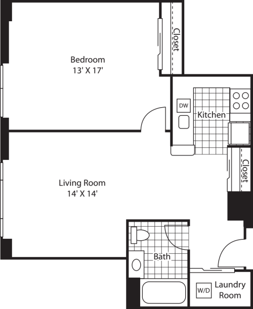 One Bedroom 764
