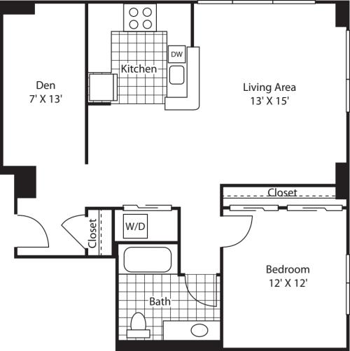 One Bedroom 932
