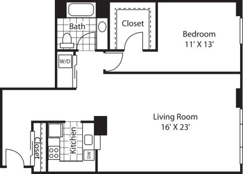 One Bedroom 1413