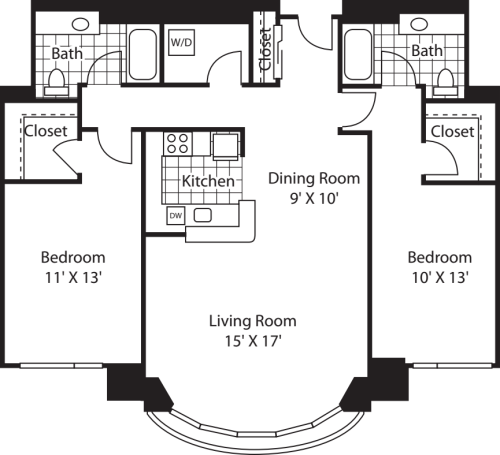 Two Bedroom 1241