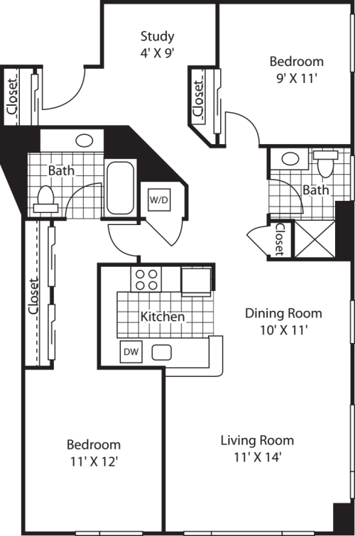 Two Bedroom 1299