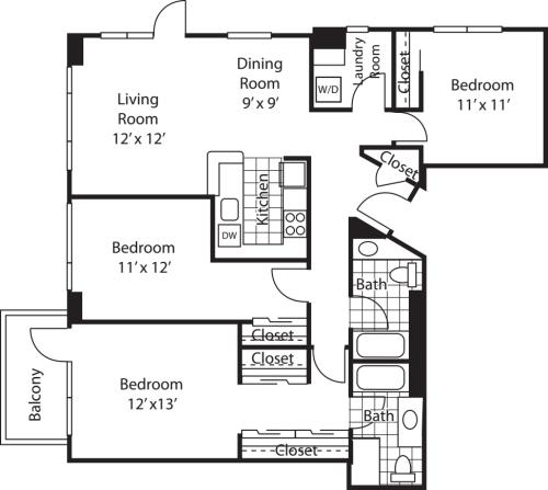 Three Bedroom 1423