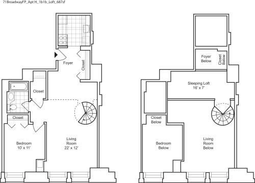 1 Bedroom H with Loft