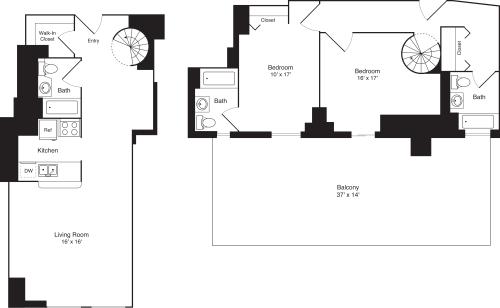 2 Bedroom E Loft