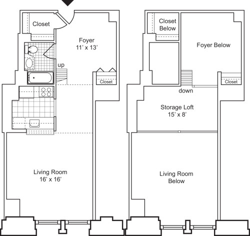 1 Bedroom E with Loft