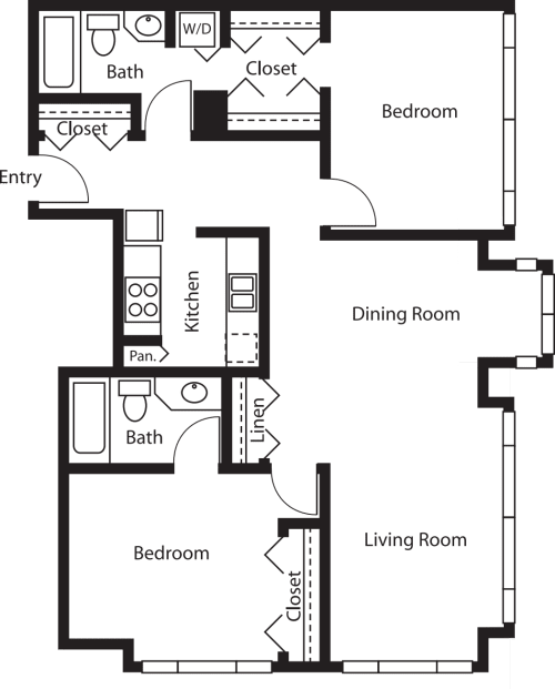 2 Bedroom Tower