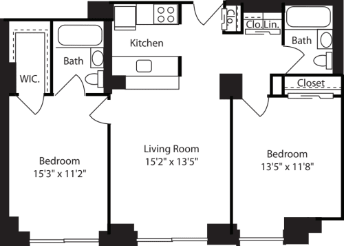 Two Bedroom: 216