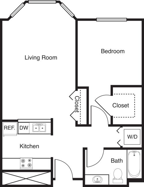 1 Bedroom -663