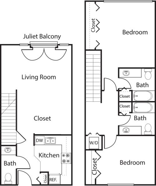 2 Bedroom TH -1181