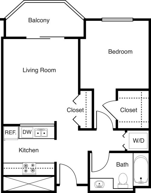 1 Bedroom -594