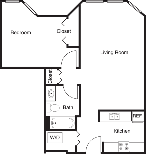 1 Bedroom -690