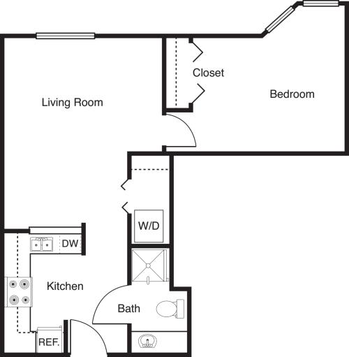 1 Bedroom -585