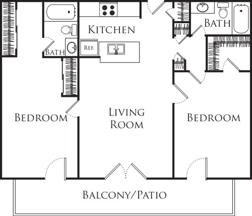 Two Bedroom Two Bathroom