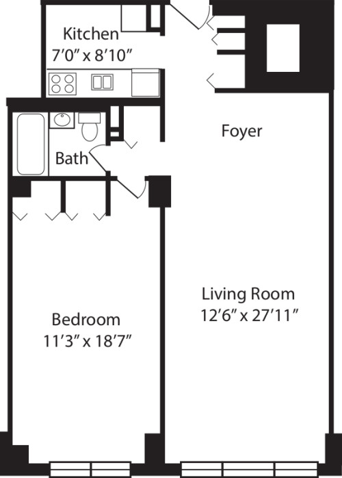 One Bedroom H 2-10