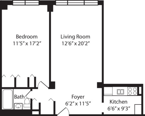 One Bedroom L 2-10