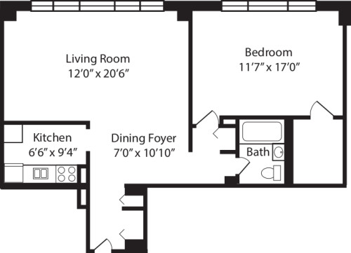 One Bedroom M 2-10