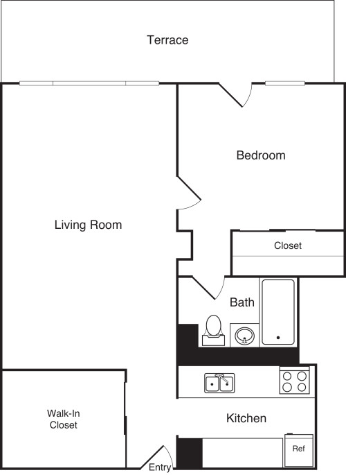 One Bedroom D PH