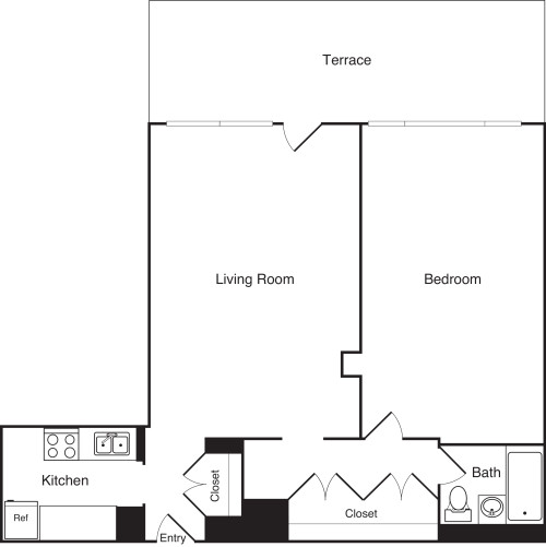 One Bedroom C PH