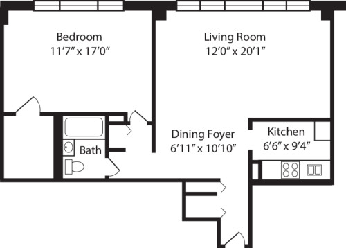 One Bedroom A 2-10
