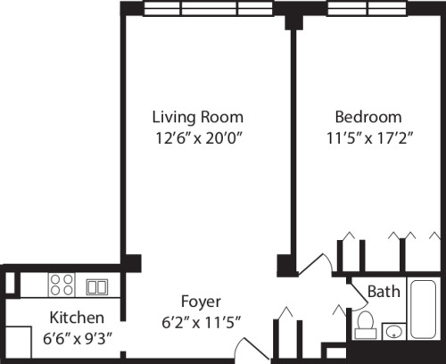 One Bedroom B 2-10