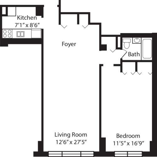 One Bedroom D 2-10
