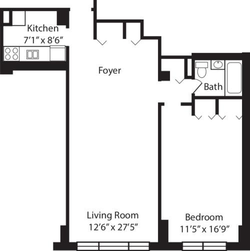 One Bedroom D 2-10