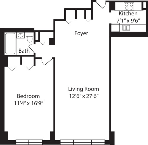 One Bedroom J 2-10