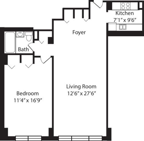 One Bedroom J 2-10