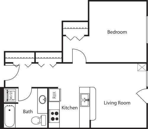 1 Bedroom O2