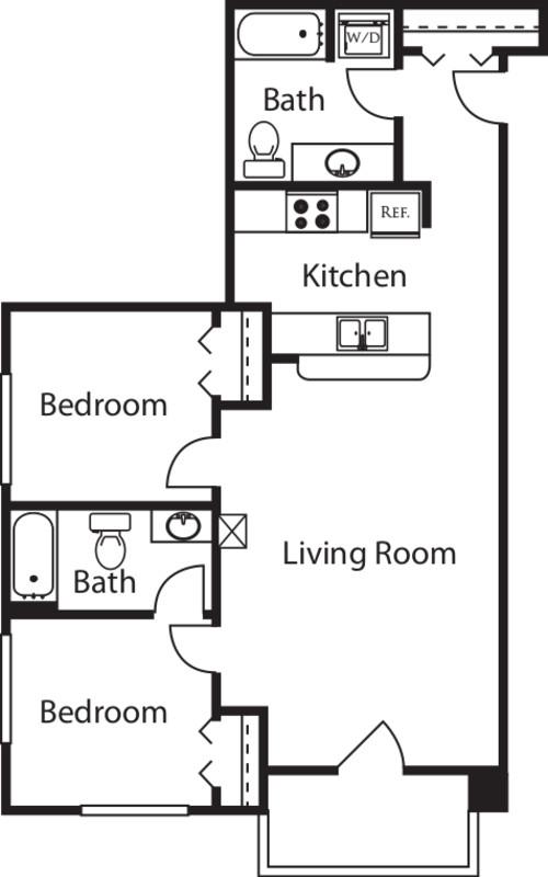 2 Bedroom X