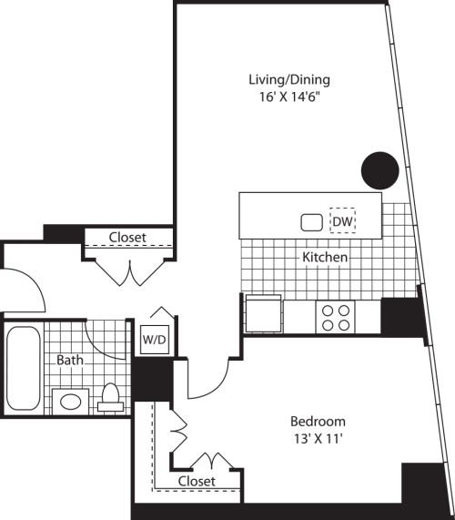 Large One Bedroom