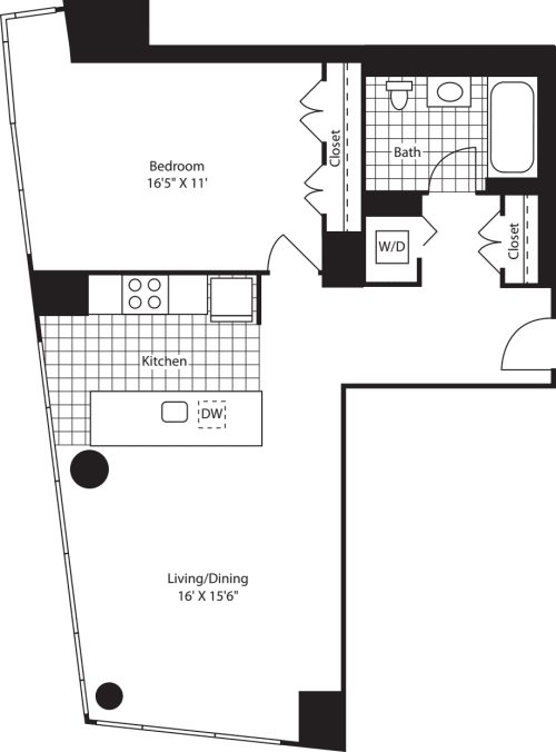 One Bedroom F FL 14-27