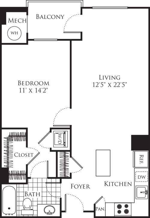 1 Bedroom- 784