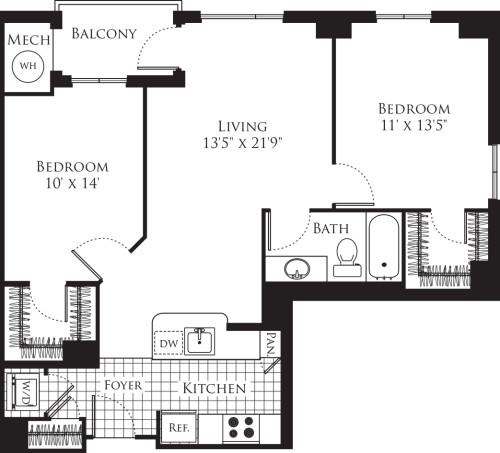2 Bedroom- 938