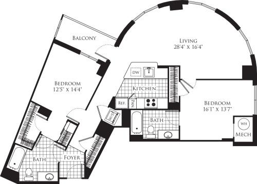 2 Bedroom- 1169