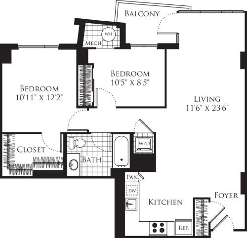 2 Bedroom- 925