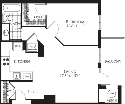1 Bedroom- 751