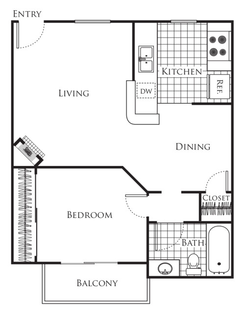Small 1 bedroom