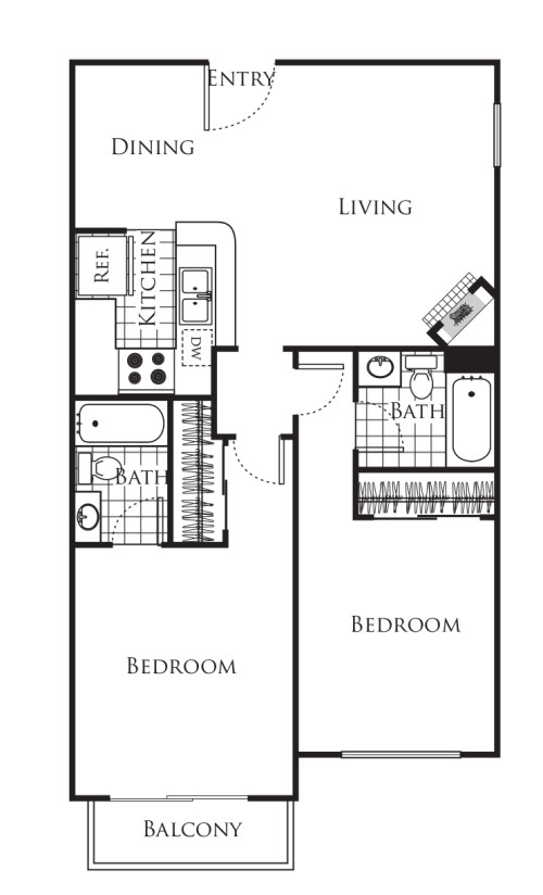 Small 2  bedroom