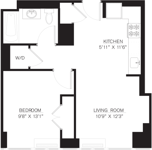 1 Bedroom K Line floors 8-41