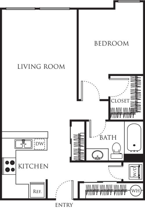One Bedroom 680