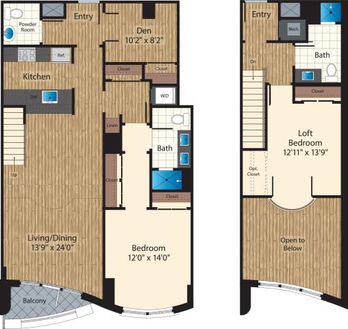 Two Bedroom+ Den J 1526