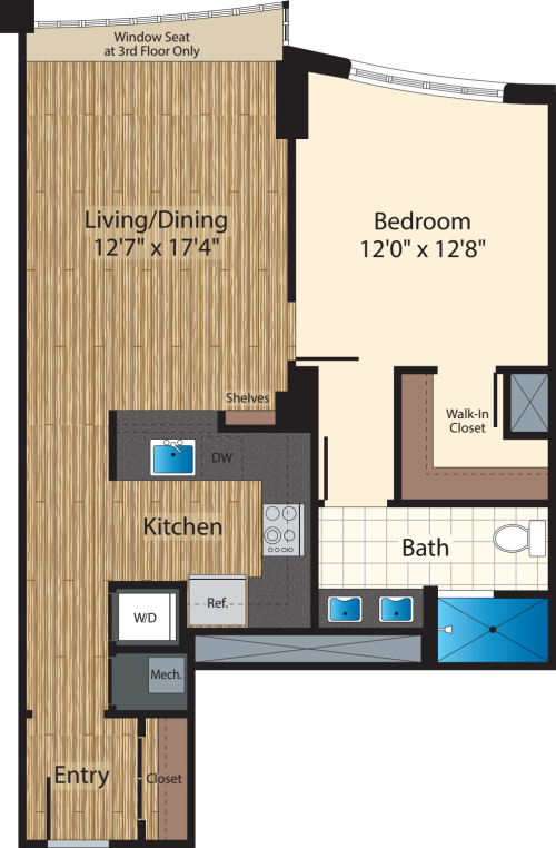One Bedroom E/825