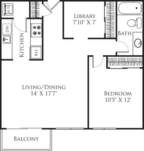 1 Bedroom E2