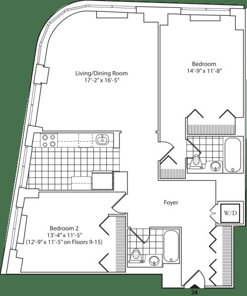 Residence 24 Floors 3-15