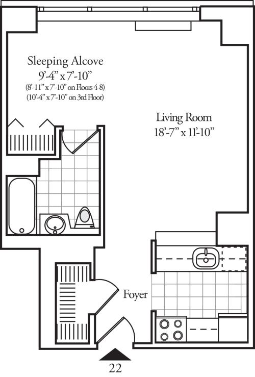 Residence 22 Floors 3-15