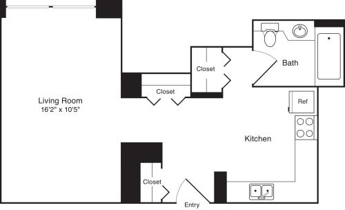 Residence F, floors3-17