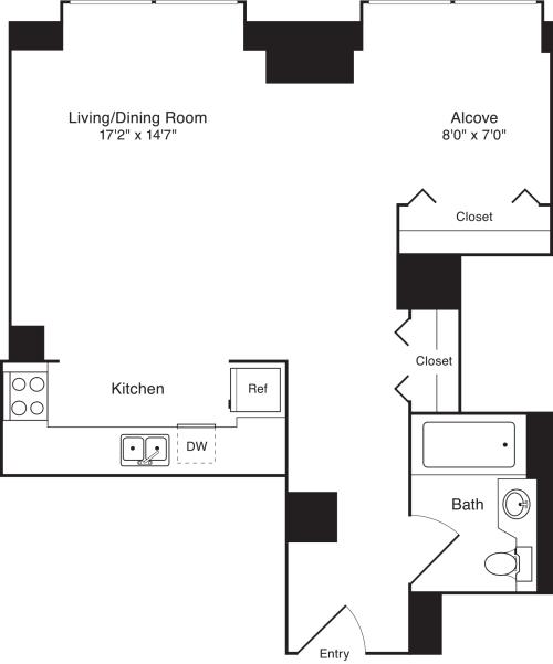 Residence M, floors 19-20