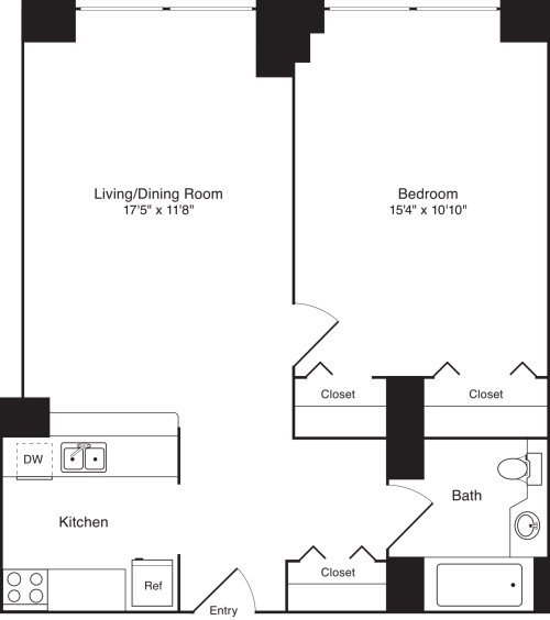 Residence F, floors 18-20