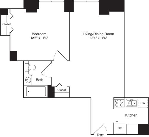 Residence G, floors 16-17